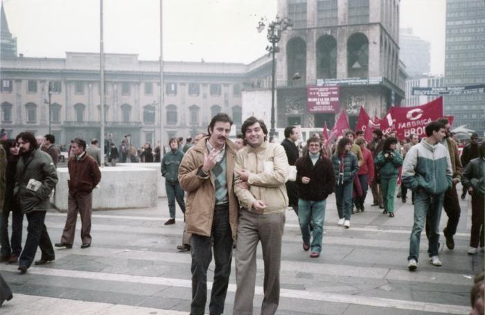 Un Gigi Pettenti d'annata (a sinistra) insieme a Giuliano Capetti, già vicepresidente della Provincia