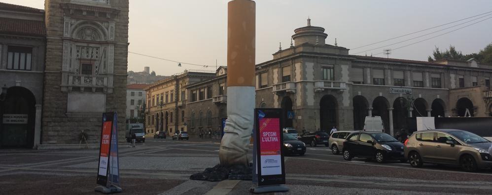 BergamoScienza, venerdì si parte Ma che ci fa un mozzicone in piazza?