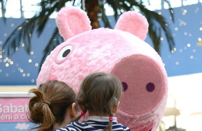 Peppa Pig al centro commerciale di Curno