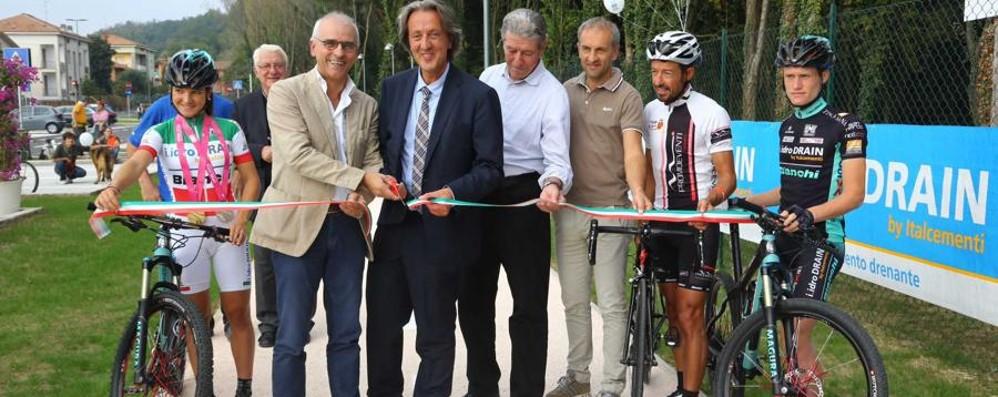 Pista ciclabile innovativa Italcementi a Calusco d'Adda