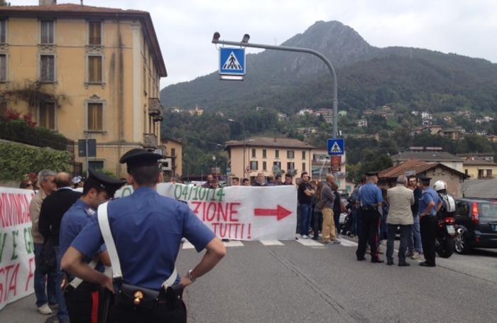 La protesta a Zogno
