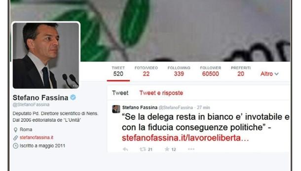 Jobs act: Fassina, no delega in bianco