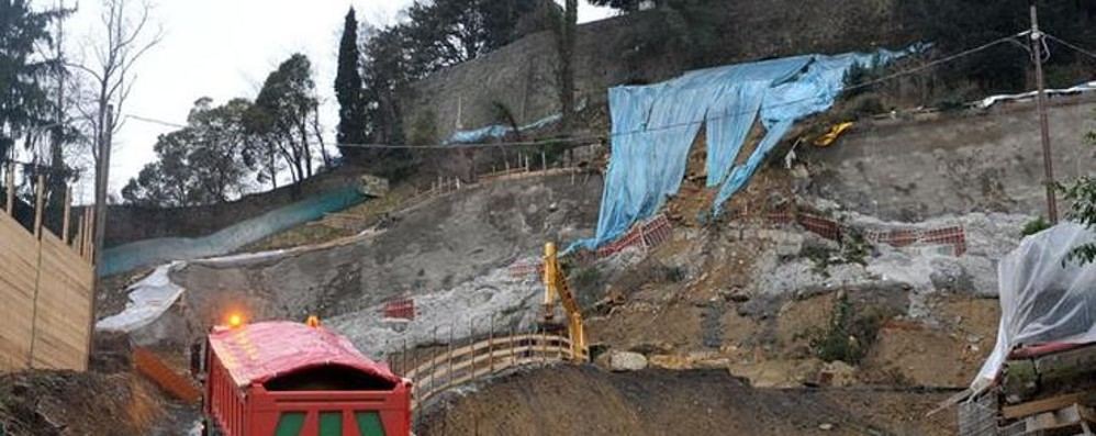 Cantiere alla Fara, parla Locatelli:  «Macché veleni, ho fermato la frana»
