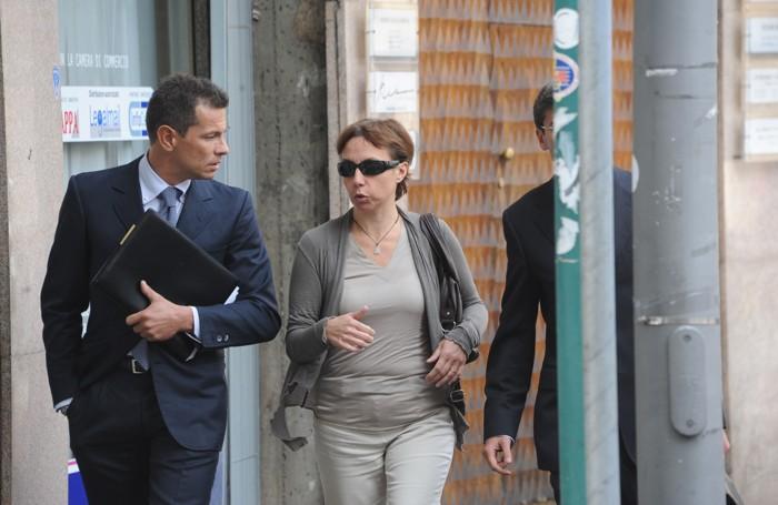 La mamma di Yara con l'avvocato Enrico Pelillo