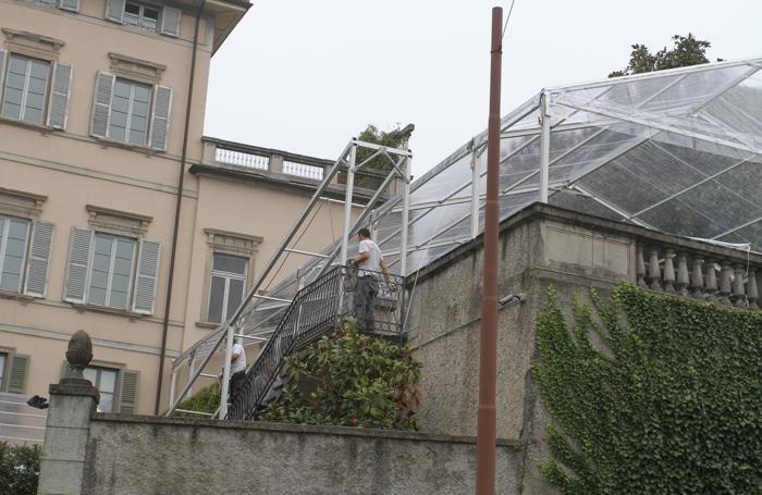 Palazzo Trussardi, fervono i preparativi per il matrimonio