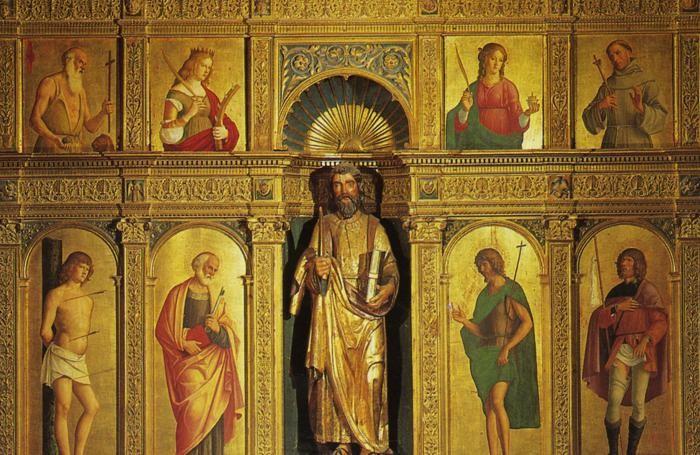 Polittico di Cima da Conegliano nella chiesa di Olera (particolare)