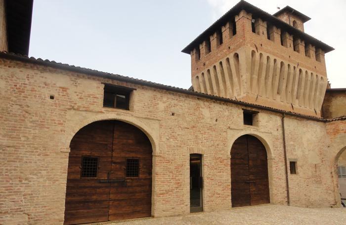 Ala nord ovest del castello di Pagazzano