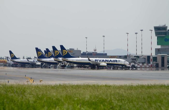 Aerei Ryanair all'aeroporto di Orio