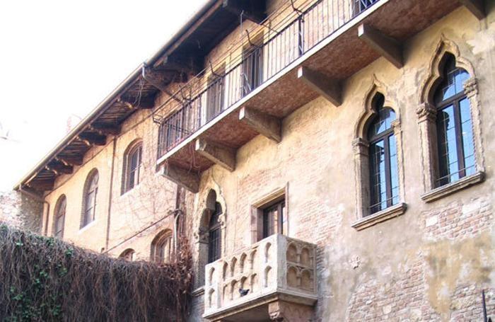 Il balcone della casa di Giulietta a Verona