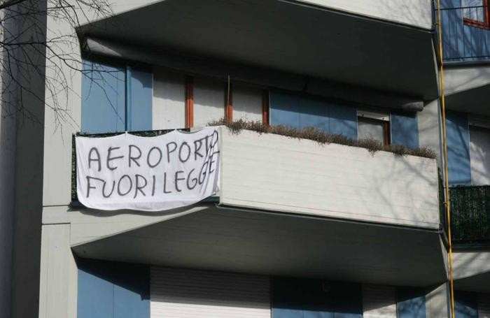 Una delle numerose proteste degli abitanti del quartiere