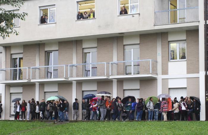 Protesta degli studenti al Mamoli