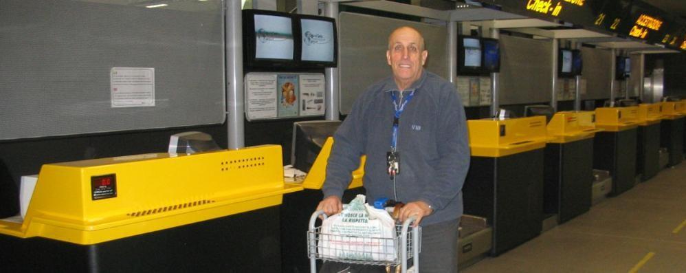 In aeroporto come nel film «The Terminal» Ma ora Alfredo Lozza mancherà a Orio
