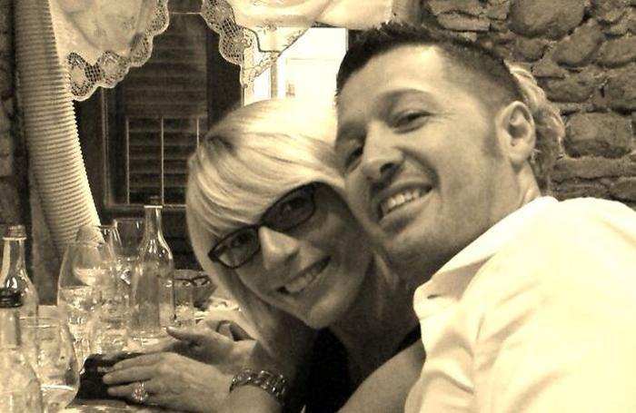 Mirko Gazzaniga con la moglie Laura