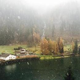 Dopo la pioggia, la neve  ecco i primi fiocchi bianchi