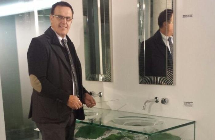 Salvatore Rota in showroom