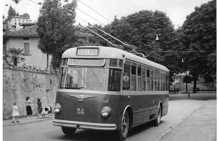 Un filobus della linea 1