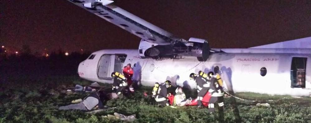 Incidente in atterraggio a Orio al Serio Emergenza simulata su un volo Wizzair