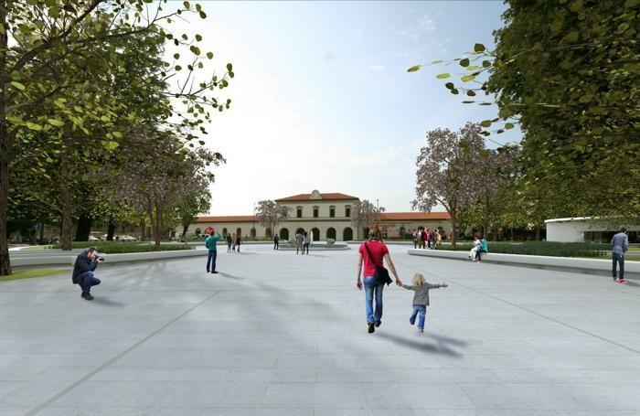 Il rendering del nuovo progetto di piazzale Marconi