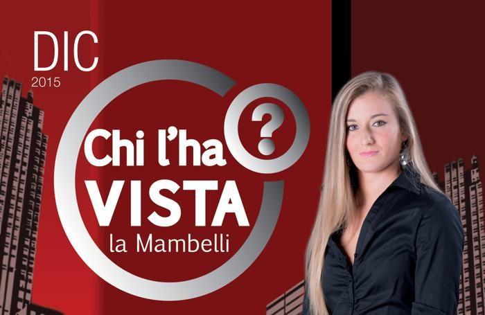Benedetta Mambelli in «Chi l'ha vista?»
