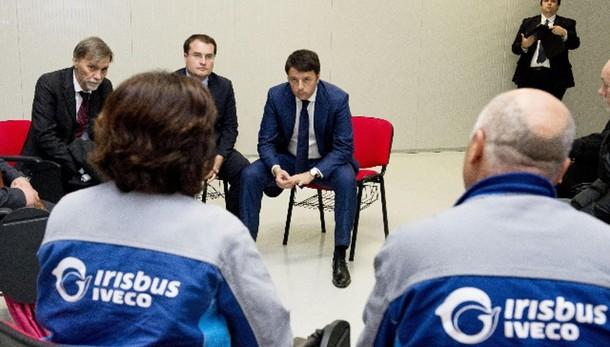 Renzi in Irpinia,visita stabilimento Ema