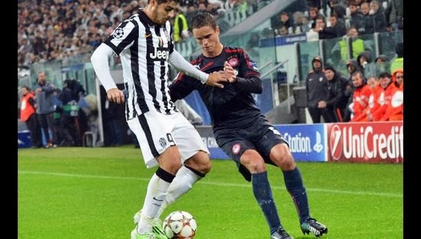 Champions: Juventus-Olympiakos 3-2