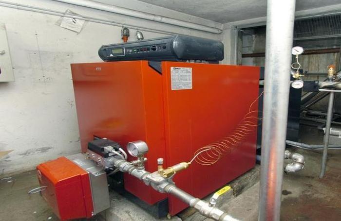 La caldaia di un impianto di riscaldamento