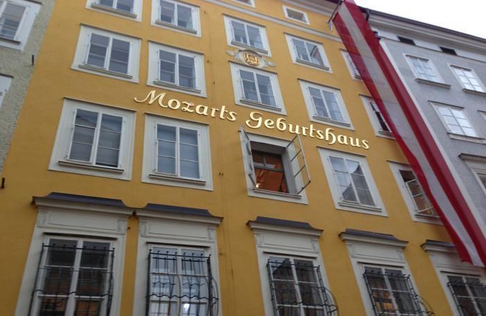 La casa natale di Mozart, a Salisburgo
