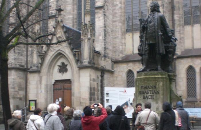 Il monumento a Bach, a Lipsia