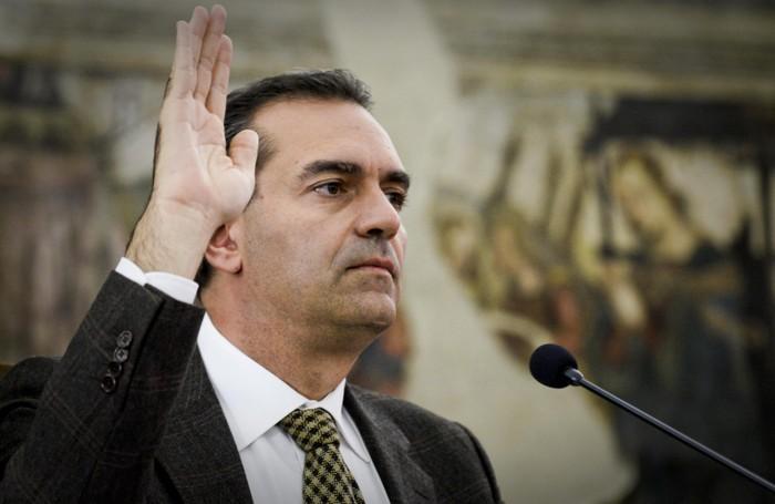 Luigi de Magistris, sindaco della Citta' metropolitana di NapoliANSA / CIRO FUSCO