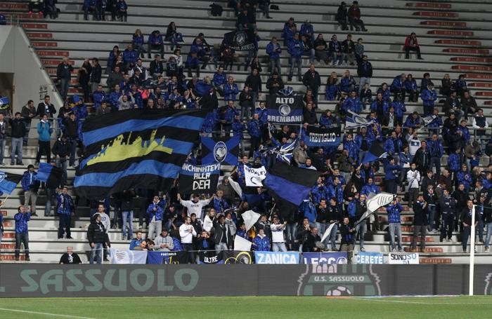 I tifosi dell'Atalanta a Reggio Emilia