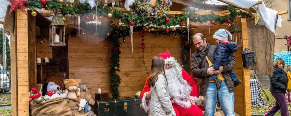 I bimbi «salvano» Babbo Natale alla sagra novembrina di Filago