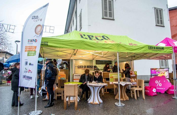 Lo stand de L'Eco café a  Filago