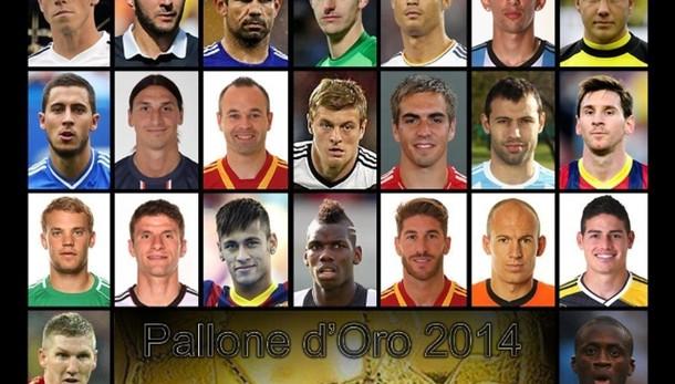Ronaldo-Messi-Neuer per il Pallone d'oro