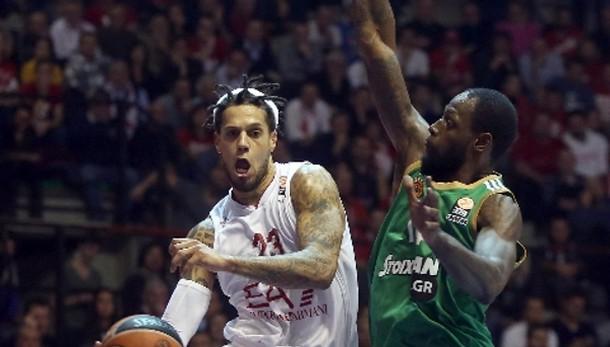 Basket: EA7 Milano-Panatinaikos 66-64