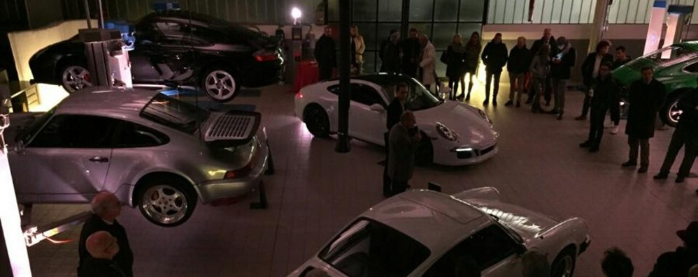 Serata speciale all'officina Porsche