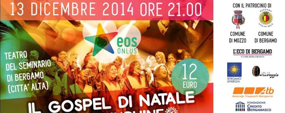 A Bergamo il Sunshine Gospel Choir  Concerto alle 21 la sera di Santa Lucia