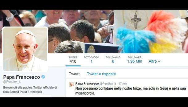 Papa,2 anni su Twitter,17 mln i follower