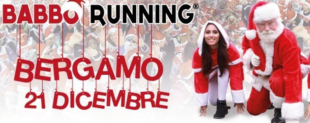 Babbo Running sbarca a Bergamo La goliardica corsa domenica 21
