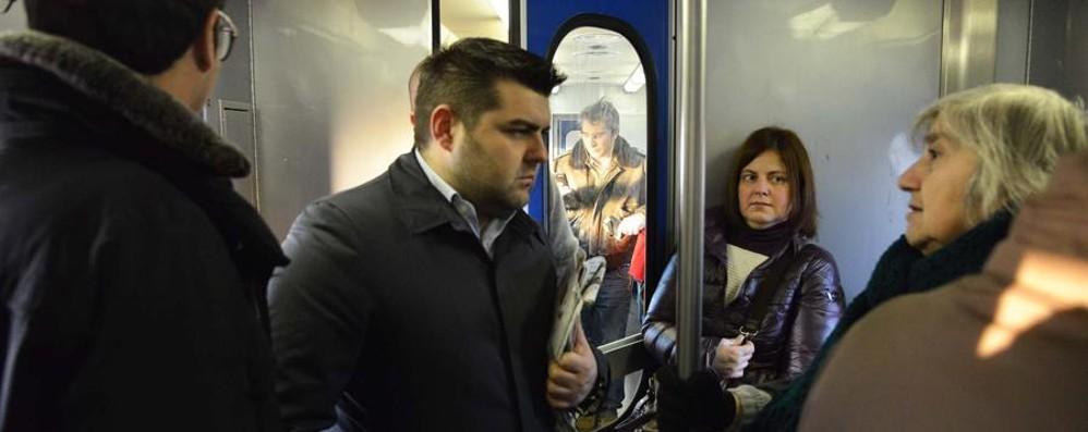 Primo viaggio in treno da assessore Sorte: «I ritardi sono inaccettabili»