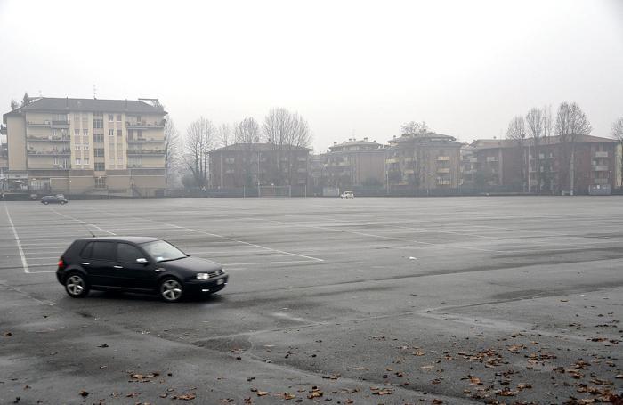 Uno dei parcheggi di interscambio con i mezzi pubblici