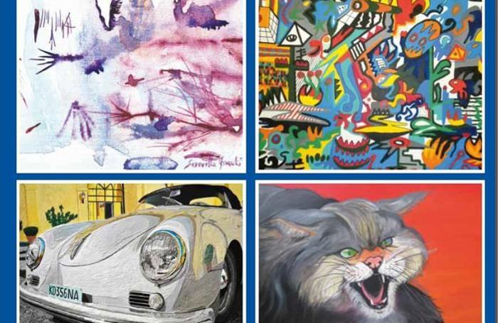 Alcune opere esposte a Okkio all'Arte