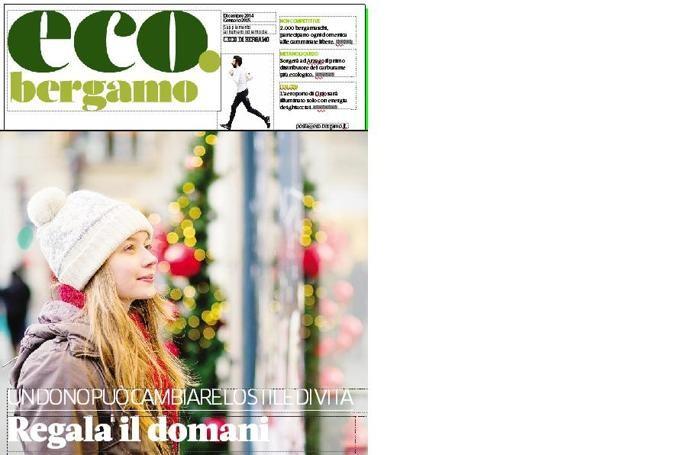 La copertina di «eco.bergamo» di dicembre