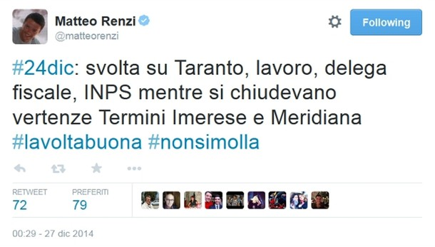 Renzi, progetto Taranto non è solo Ilva