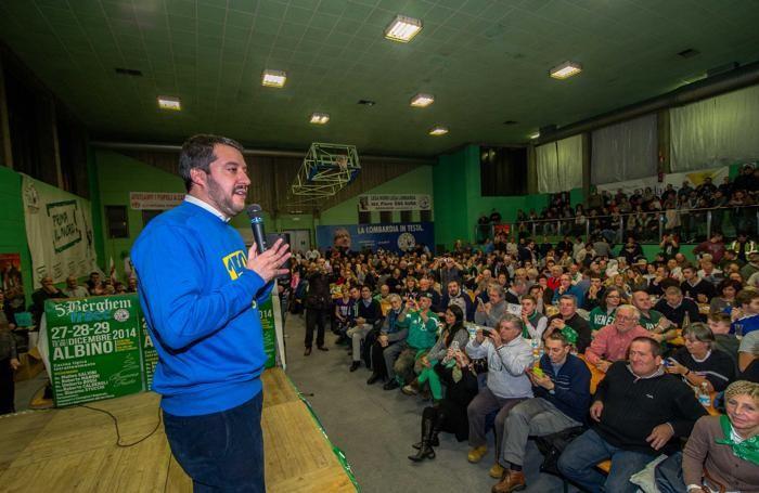 Matteo Salvini alla Bèrghem Frecc al Albino