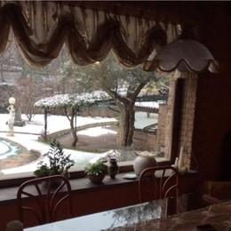Neve vista dalla finestra foto di Claudio