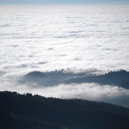 Città Alta vista dalla vetta del Canto Alto di Mario Roberto Crippa