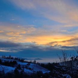 Luca Donadoni di Pontida: l'alba dalla frazione Valmora