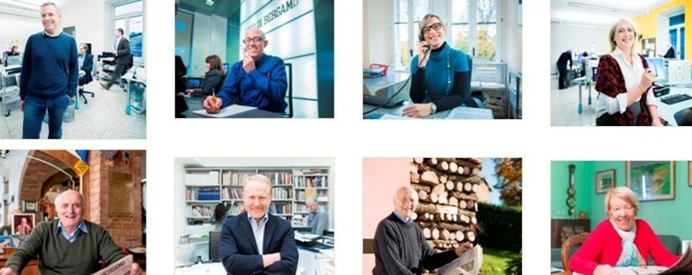Noi e voi: L'Eco di Bergamo I volti della campagna abbonamenti