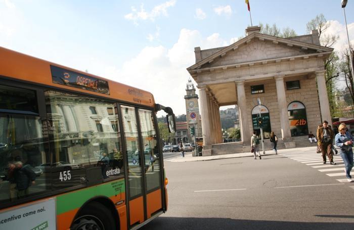Autobus in centro