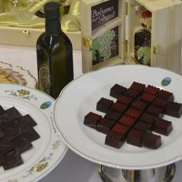 Cioccolatino all'olio extravergine L'hanno inventato a Carobbio